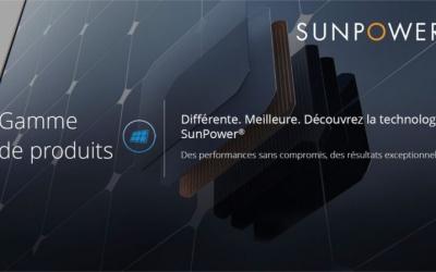 PANNEAUX SUNPOWER Maxeon & Performance
