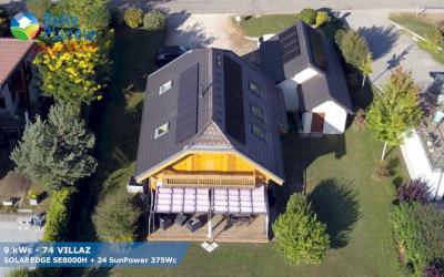 9 kWc SolarEdge + 24 SunPower 375Wc Full Black