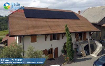 12 kWc SolarEdge + 32 SunPower 375Wc Full Black