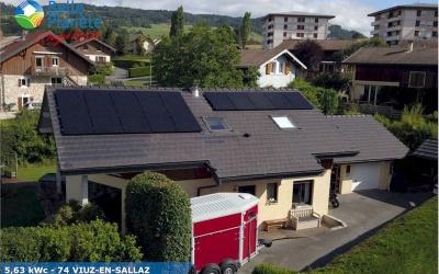 5,63 kWc SolarEdge + 15 SunPower 375Wc Full Black