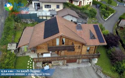 7,13 kWc SolarEdge + 19 SunPower 375Wc Full Black