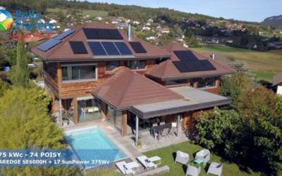 6,375 kWc SolarEdge + 17 SunPower 375Wc Full Black